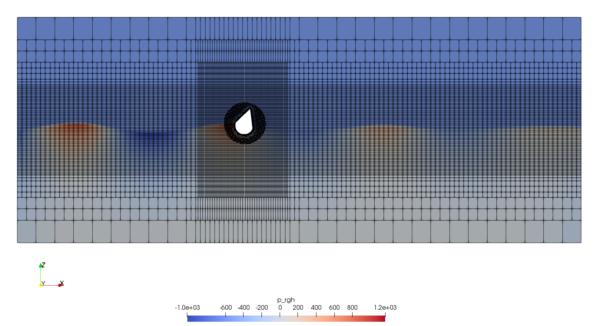 OpenFOAM - buoy and waves - overset mesh
