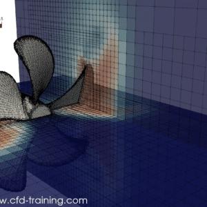 OpenFoam - CFD numerical model of a propeller in open-water – velocity field